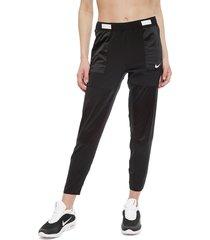 pantalón de buzo nike w nk pant 7/8 rebel negro - calce regular