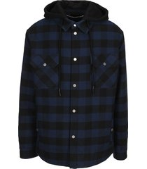 off-white off white arrow padded flannel shirt jacket
