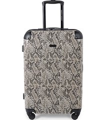 pippa 24-inch snakeskin-print suitcase