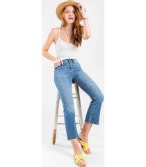 mallory light wash crop jeans - lite