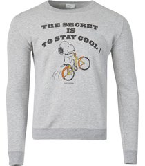 the secret is to stay cool snoopy sweatshirt grey