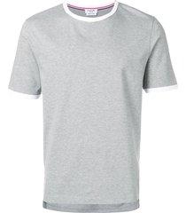 thom browne ringer t-shirt - grey