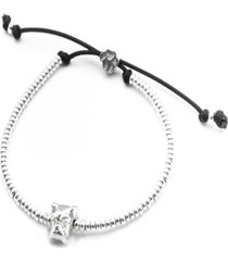 boxer head bracelet in sterling silver