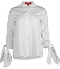 cuff tie collared shirt