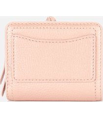 marc jacobs women's mini compact wallet - pearl blush