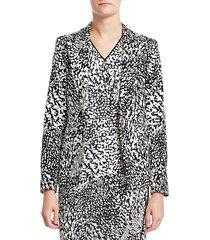 escada women's bikenati abstract leopard print jacket - black leopard - size 38 (8)
