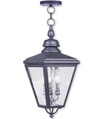 livex cambridge 3-light outdoor chain-hang lantern