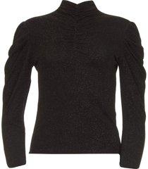 lurex top met col livanda  zwart