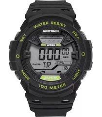 relógio mormaii digital acqua mo3500c8v preto