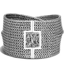 john hardy flat classic wrap bracelet, size small in silver at nordstrom