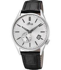 reloj retro negro lotus
