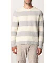 eleventy sweater eleventy sweater in striped wool and cashmere blend