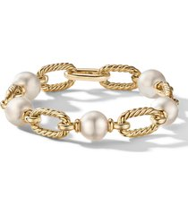 david yurman madison(r) pearl chain bracelet in 18k yellow gold, size large in pearl/yellow gold at nordstrom