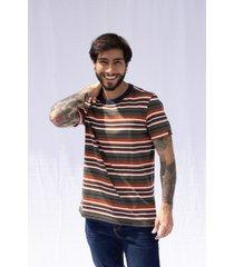camiseta  pompilio a rayas cuello redondo