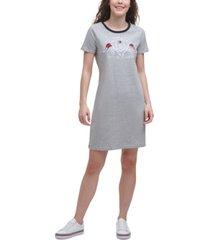 tommy hilfiger signature crest t-shirt dress