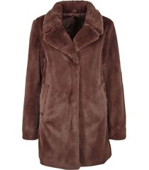 gipsy sunia brown fake fur coat