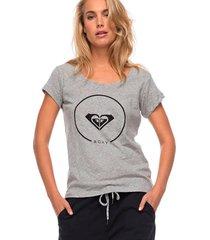 camiseta roxy bobby twist essential highrise - heather