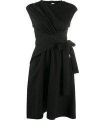 victoria victoria beckham gathered waist dress - black