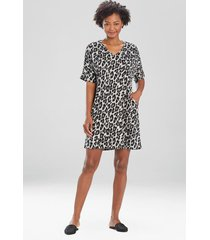 natori ombre leopard tunic caftan, luxury caftans for women, size s