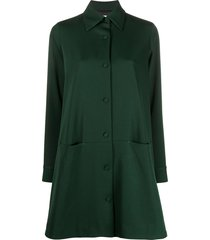société anonyme single-breasted shirt-coat - green