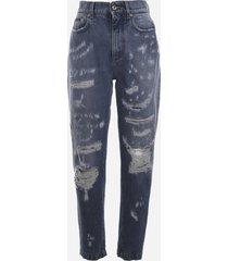 dolce & gabbana stretch cotton slouchy-fit jeans