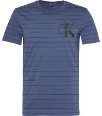 tronic slim t-shirt azul calvin klein