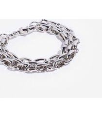 womens linkin' about you chunky chain bracelet - silver
