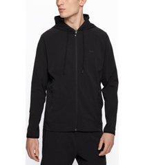 boss men's zip-up hooded sweatshirt