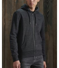superdry men's orange label classic zip hoodie