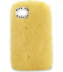dyed mink iphone 7 case