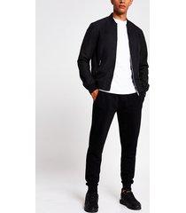 river island mens black bomber jacket