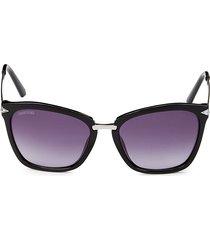 swarovski women's 54mm square sunglasses - black
