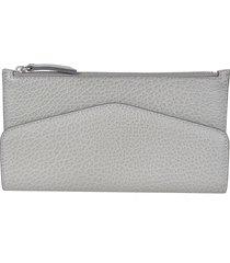 maison margiela top zipped logo wallet