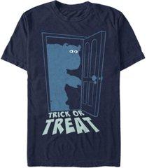 disney pixar men's monsters inc. halloween sully trick or treat short sleeve t-shirt