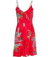 abito a fiori con volant (rosso) - bodyflirt boutique