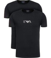 t-shirt korte mouw armani 2-pack ea basic tee black