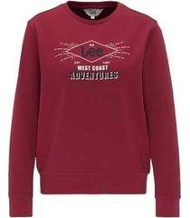 sweater lee seasonal logo sws l36lejgb rhubarb red