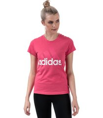 womens essentials linear slim t-shirt