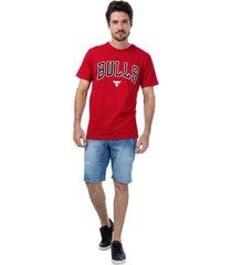 camiseta feminina nba bulls vermelho - vermelho - masculino - dafiti