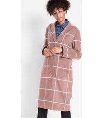 korte coat met ruiten en ribboorden