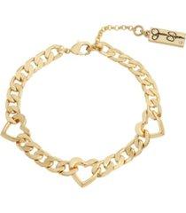 jessica simpson heart link bracelet