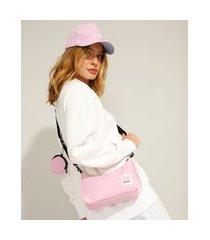 bolsa baguete pantone rosa