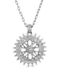2028 silver-tone pendant necklace