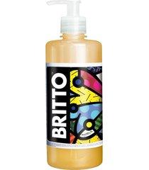 britto sabonete líquido 500ml - pêssego