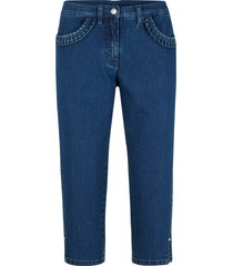jeans capri elasticizzati con ruches sulle tasche (blu) - bpc bonprix collection