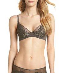 women's natori flora underwire bra, size 30d - grey