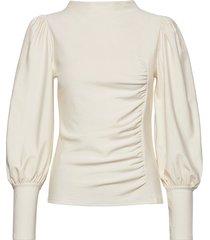 rifagz puff blouse blouse lange mouwen wit gestuz