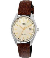 reloj casio mtp_1175e_9a marrón cuero