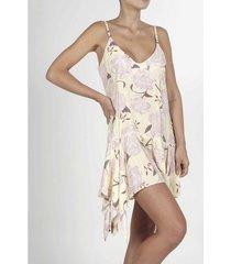 vestido para mujer tennis, medio y estampado de flores grandes