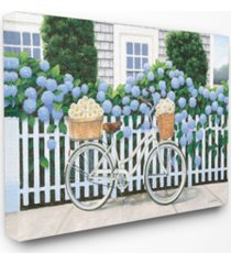 "stupell industries cape cod daisy bike canvas wall art, 16"" x 20"""